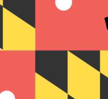 Baltimore Logo with Maryland Flag Sticker