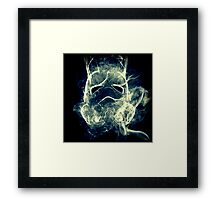 Smoke Stormtrooper helmet - Colour Framed Print