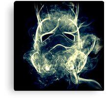 Smoke Stormtrooper helmet - Colour Canvas Print