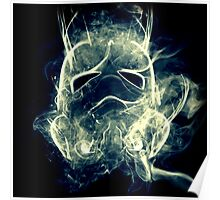Smoke Stormtrooper helmet - Colour Poster