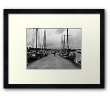 Shipping Dock Framed Print