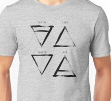 Elements Symbols - Black Edition Unisex T-Shirt