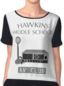 Hawkins Middle School AV Club Chiffon Top