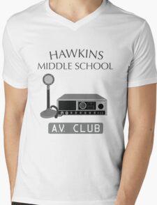Hawkins Middle School AV Club Mens V-Neck T-Shirt