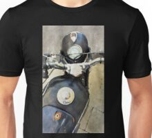 Vintage motorcycle watercolor painting Unisex T-Shirt