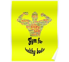 Gym ,Fitnes vector Poster