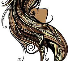 Tapa Hair - Brown/Gold by Tanya Ibarra