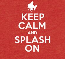 Pokemon - Keep Calm and Splash On - Magikarp Design Tri-blend T-Shirt