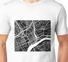 Knoxville Map - Black Unisex T-Shirt