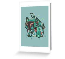 Bulba Fett Greeting Card