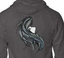 Tapa Hair - Blue Zipped Hoodie