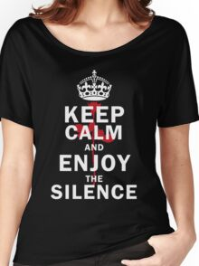 KEEP THE SILENCE ROSE Women's Relaxed Fit T-Shirt