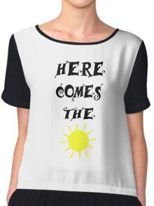 Here Comes The Sun Beatles Song Lyrics 60s Rock Music Chiffon Top