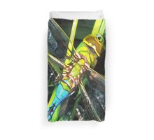 Blue Dragonfly Wings Duvet Cover