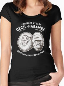 Cecil Harambe Together At Last Women's Fitted Scoop T-Shirt