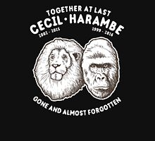Cecil Harambe Together At Last Unisex T-Shirt