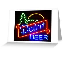 Point beer Greeting Card