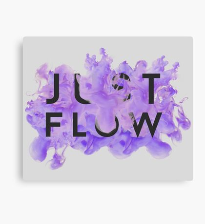 JUST FLOW (Lilac and Grey) Canvas Print