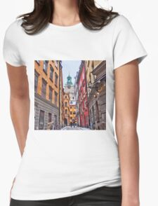 Lost in Gamla Stan Womens Fitted T-Shirt