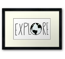 Explore the Globe Framed Print