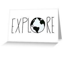 Explore the Globe Greeting Card