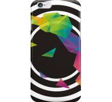 Black Spiral and rainbow iPhone Case/Skin