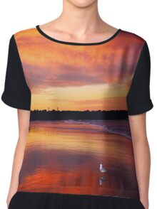 Sunset seagull Chiffon Top