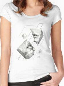 Geometric Surrealism Women's Fitted Scoop T-Shirt