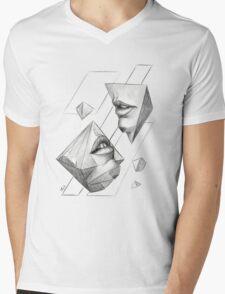 Geometric Surrealism Mens V-Neck T-Shirt