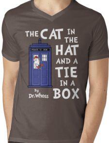 The Cat in the Hat and a Tie in a Box Mens V-Neck T-Shirt