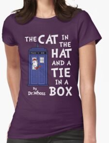 The Cat in the Hat and a Tie in a Box Womens Fitted T-Shirt