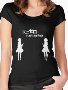 Re: Zero kara Hajimeru Isekai Seikatsu (White Edition) Women's Fitted Scoop T-Shirt