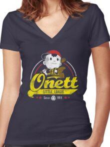 Onett little league Women's Fitted V-Neck T-Shirt