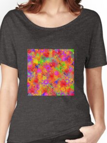 Color Splash Graffiti Women's Relaxed Fit T-Shirt