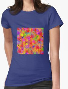Color Splash Graffiti Womens Fitted T-Shirt