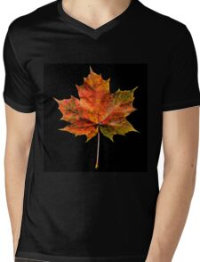 Maple leaf Mens V-Neck T-Shirt