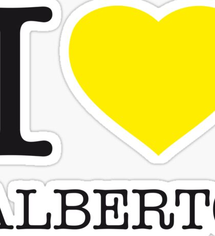 I ♥ ALBERTO Sticker