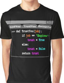Trust Me Engineer Shirt Python Script Graphic T-Shirt