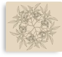 Vintage Wreath Pattern Canvas Print