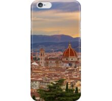 Sunset over Florence iPhone Case/Skin