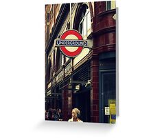 Covent Garden Underground - London Greeting Card