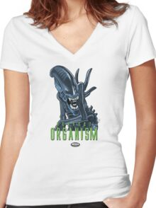Xenomorph Women's Fitted V-Neck T-Shirt
