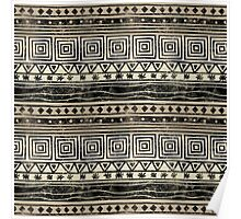 African Geometric Pattern  Poster
