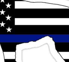 German Shepherd: Thin Blue Line Sticker