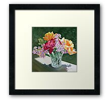 """Roses in Crystal, Circle"" Framed Print"