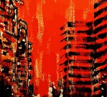 City on fire by Ontrip Art Collective