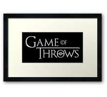 Game of Throws Framed Print