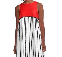 Preppy Geometric Block Design A-Line Dress