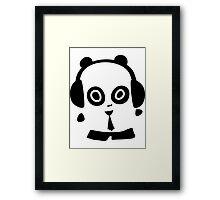 Headphone Pandas Framed Print