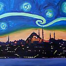 starry nights in Istanbul - Van Gogh inspiriert by artshop77